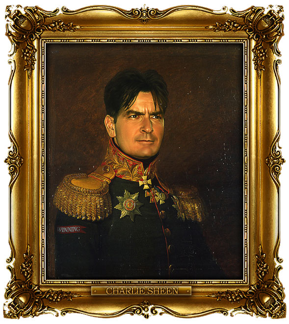 famous celebrities 19th century russian generals by george dawe charlie sheen 1 Celebrities Digitally Painted As Russian Generals