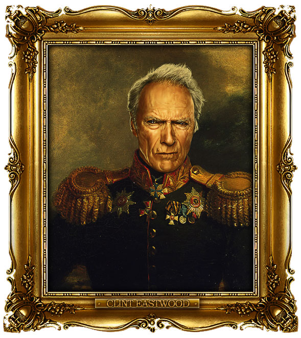 famous celebrities 19th century russian generals by george dawe clint eastwood 1 Celebrities Digitally Painted As Russian Generals