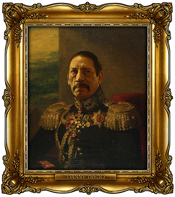 famous celebrities 19th century russian generals by george dawe danny trejo 1 Celebrities Digitally Painted As Russian Generals