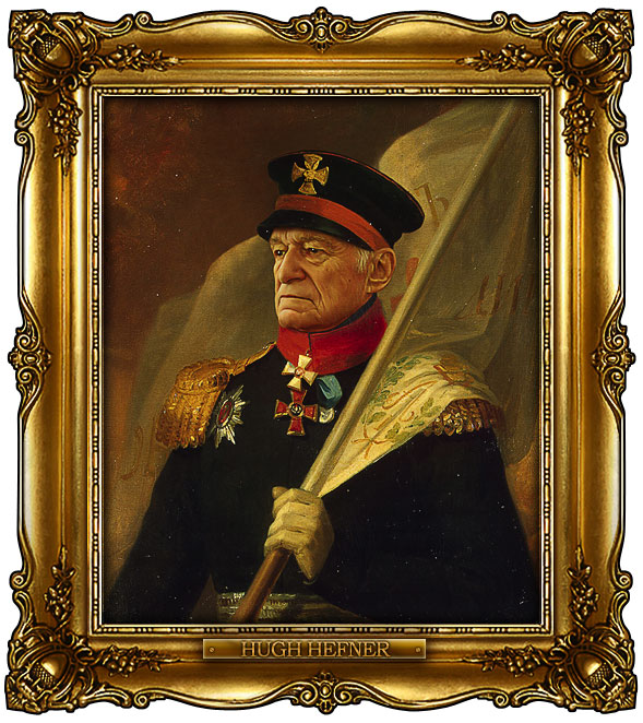 famous celebrities 19th century russian generals by george dawe hugh hefner 1 Celebrities Digitally Painted As Russian Generals