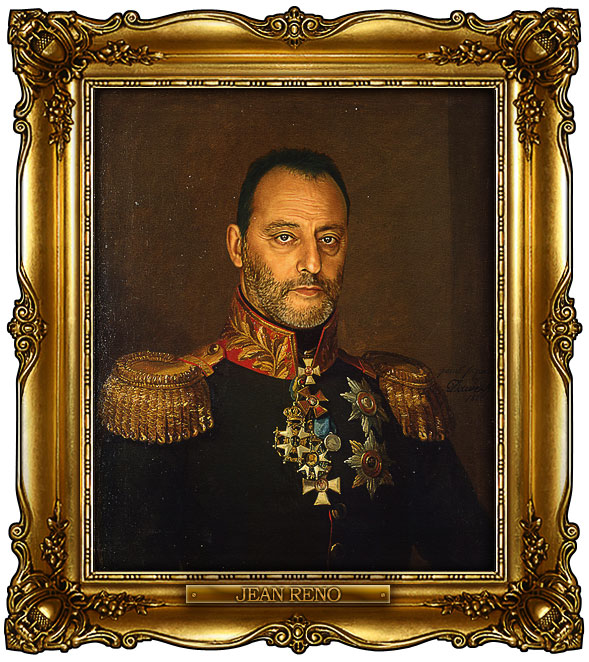 famous celebrities 19th century russian generals by george dawe jean reno 1 Celebrities Digitally Painted As Russian Generals