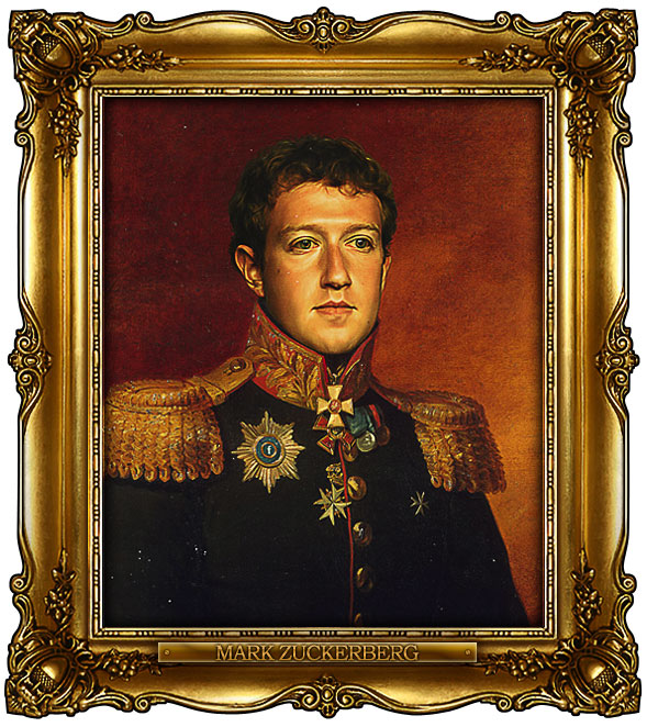 famous celebrities 19th century russian generals by george dawe mark zuckerberg 1 Celebrities Digitally Painted As Russian Generals