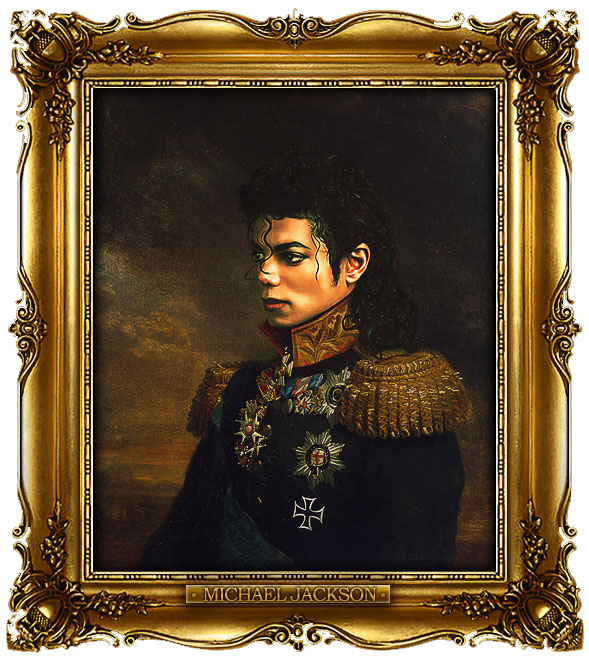 famous celebrities 19th century russian generals by george dawe michael jackson 1 Celebrities Digitally Painted As Russian Generals