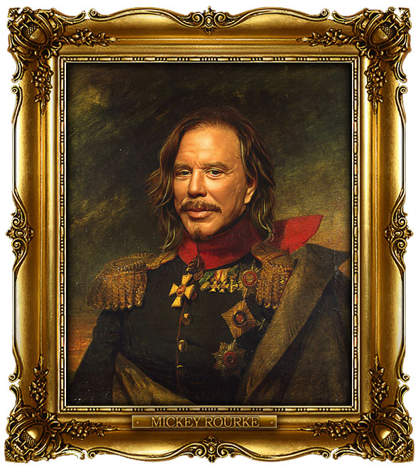 famous celebrities 19th century russian generals by george dawe mickey rourke 1 Celebrities Digitally Painted As Russian Generals