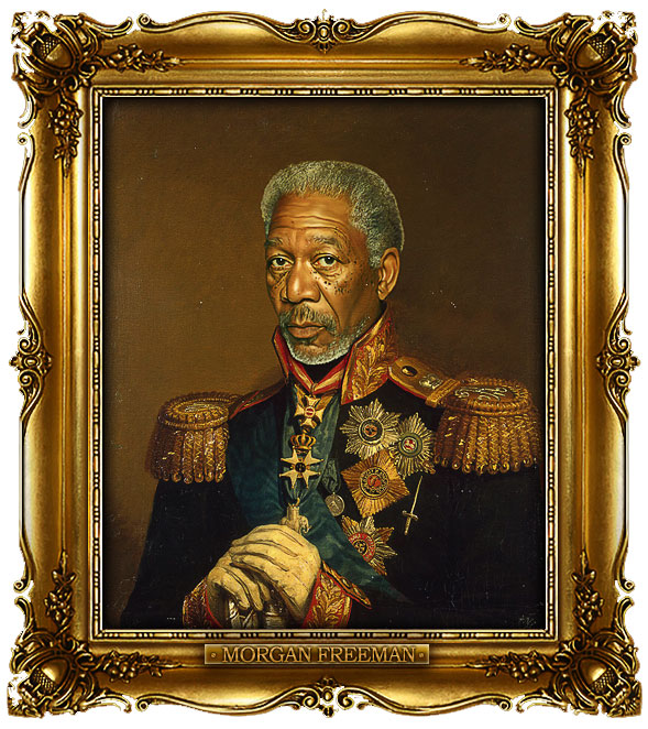 famous celebrities 19th century russian generals by george dawe morgan freeman 1 Celebrities Digitally Painted As Russian Generals