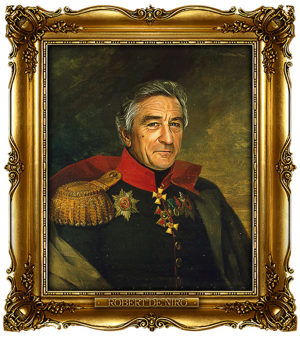 famous celebrities 19th century russian generals by george dawe robert de niro 1 Celebrities Digitally Painted As Russian Generals