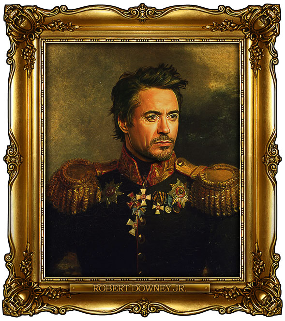 famous celebrities 19th century russian generals by george dawe robert downey jr 1 Celebrities Digitally Painted As Russian Generals