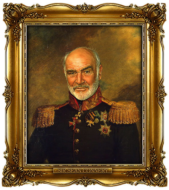 famous celebrities 19th century russian generals by george dawe sir sean connery 1 Celebrities Digitally Painted As Russian Generals