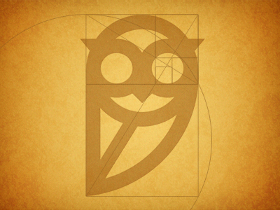 golden ratio1 35 Wisdom Packed Owl Logo Designs