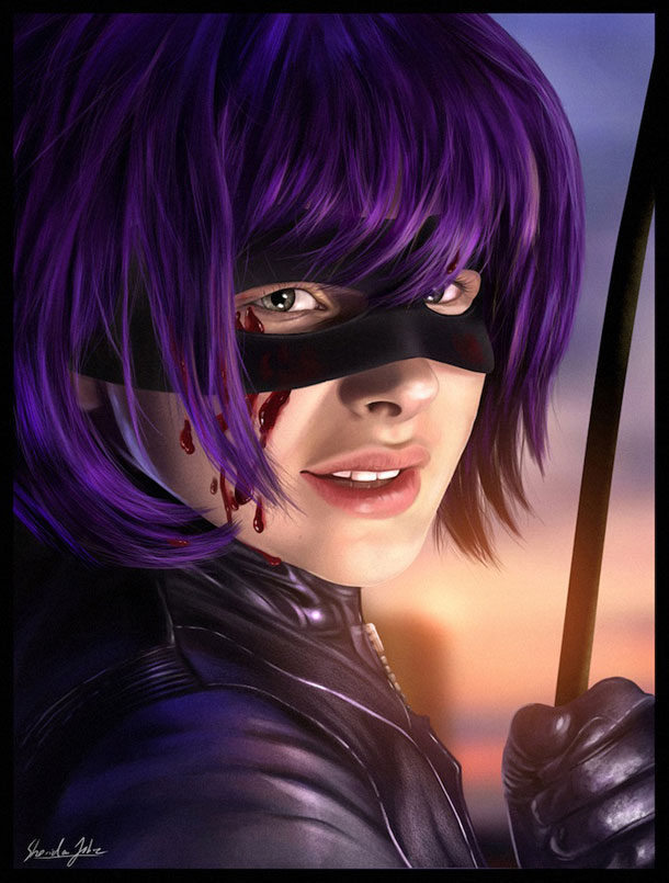 hit girl by sheridan jd3icmzz 20 Jaw Dropping Photorealistic Works by Sheridan Johns