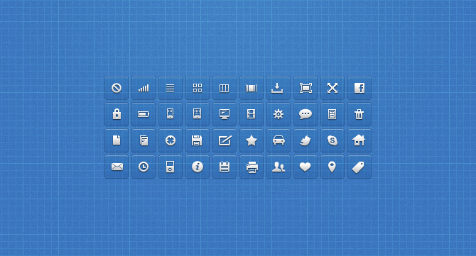 icons by luke1 50 Stunning Pixel Perfect PSD Freebies #3