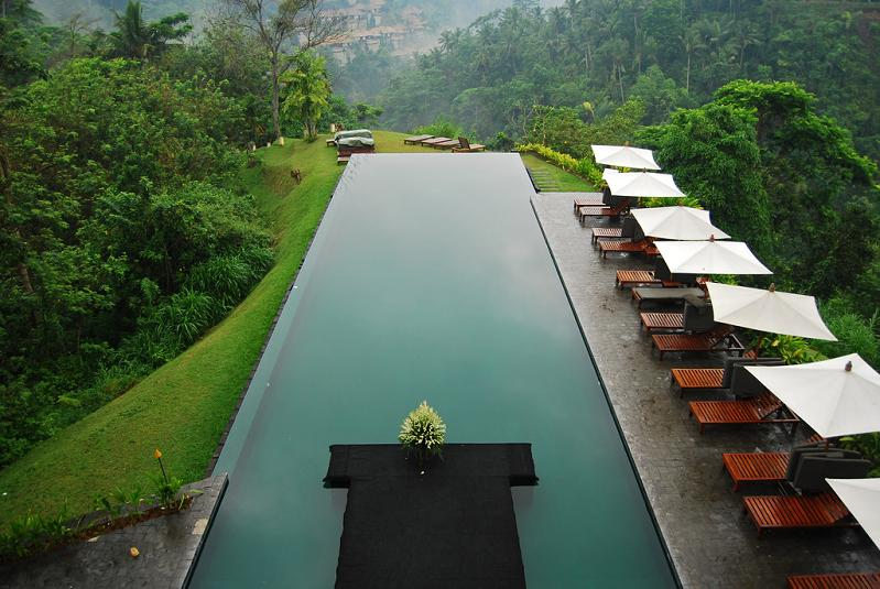 infinity pool aerial shot alila ubud bali1 30 Jaw Dropping Infinity Pools from Around the World