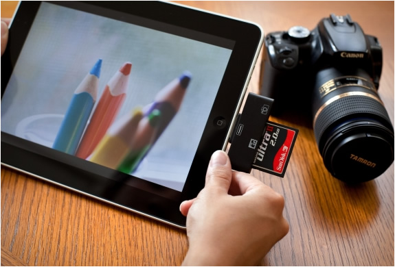 ipad cf sd card readers1 15+ Innovative Accessories for your iPad