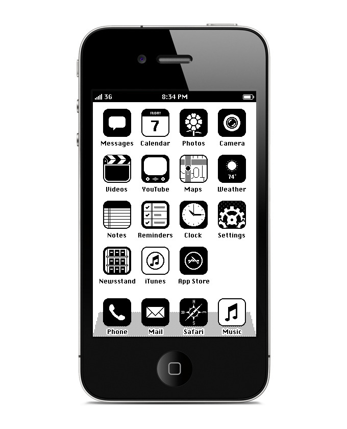 iphone retroos homescreen 7 6801 40 Quality Examples of iOS User Interface Designs