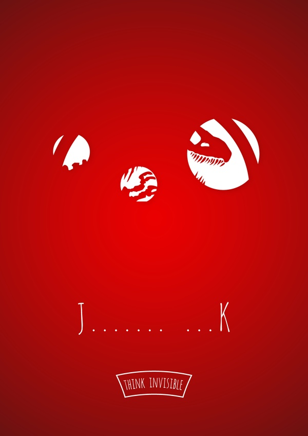 j Think Invisible: Negative Space Posters by Adri Bodor and Mark Szulyovszky