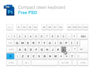 keyboard1 50 Stunning Pixel Perfect PSD Freebies #3