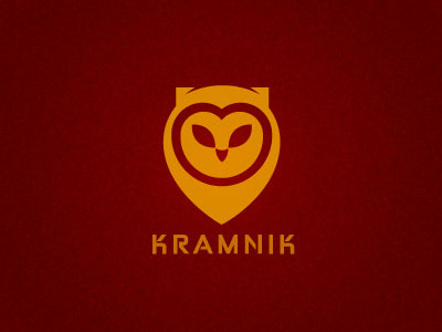 kramnik1 35 Wisdom Packed Owl Logo Designs