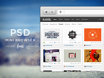 mini browser1 50 Stunning Pixel Perfect PSD Freebies #3