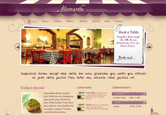 monmarthe wordpress theme1 25+ Premium Food Based WordPress Themes