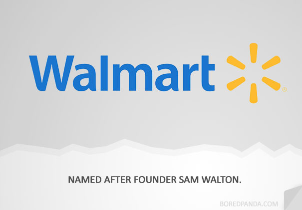 name origin explanation walmart1 How 30 Famous Companies Got Their Names
