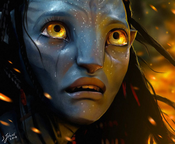 neytiri  s tears by sheridan jd2yeqkk 20 Jaw Dropping Photorealistic Works by Sheridan Johns