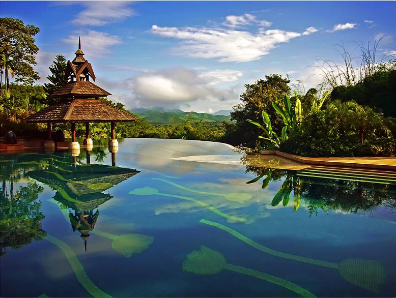 nicest infinity pool ever anantara golden triangle resort1 Infinity Pool