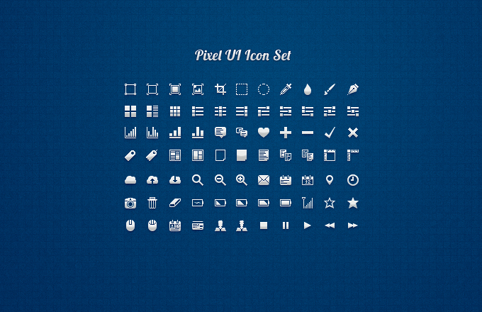 pixel ui icon set 3651 50 Stunning Pixel Perfect PSD Freebies #3