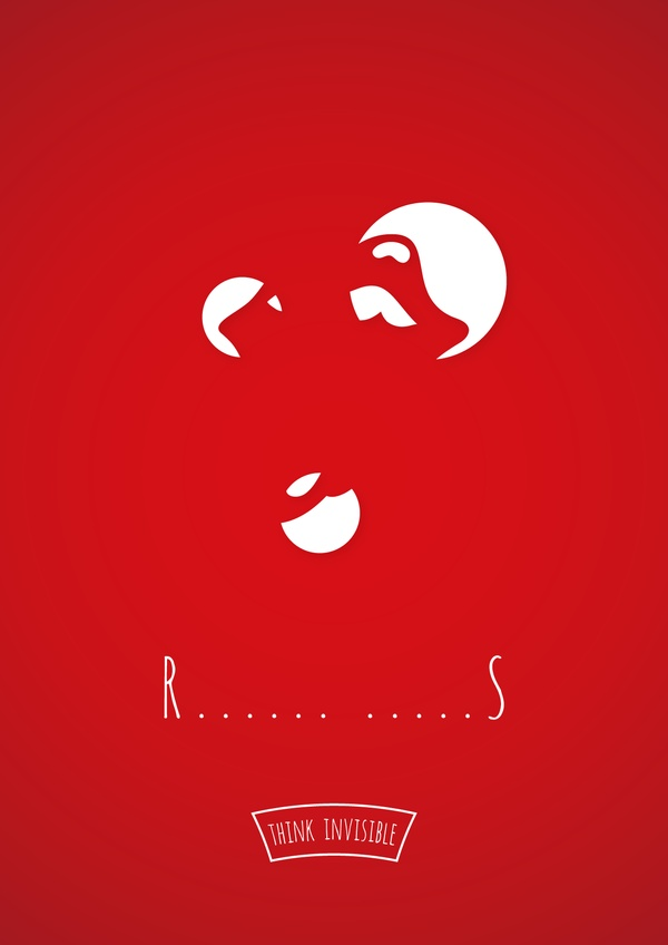 r Think Invisible: Negative Space Posters by Adri Bodor and Mark Szulyovszky