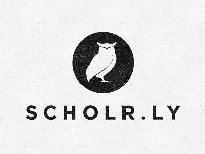 scholrly logo1 35 Wisdom Packed Owl Logo Designs