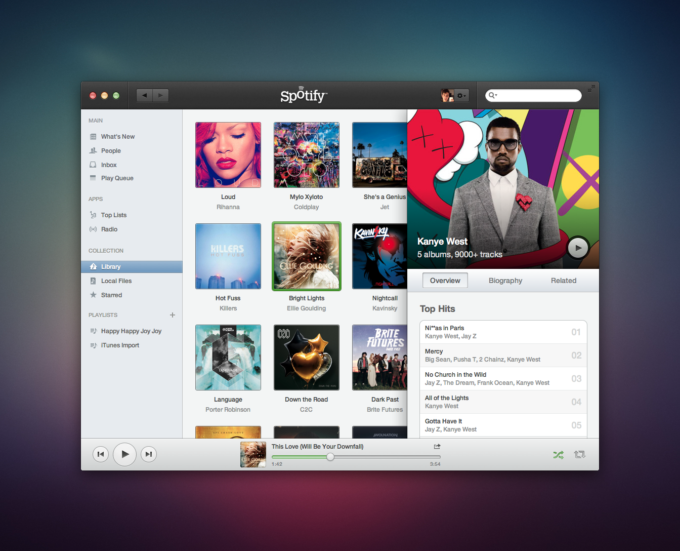 spotify1 40 Quality Examples of iOS User Interface Designs