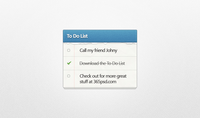 to do list1 50 Stunning Pixel Perfect PSD Freebies #3