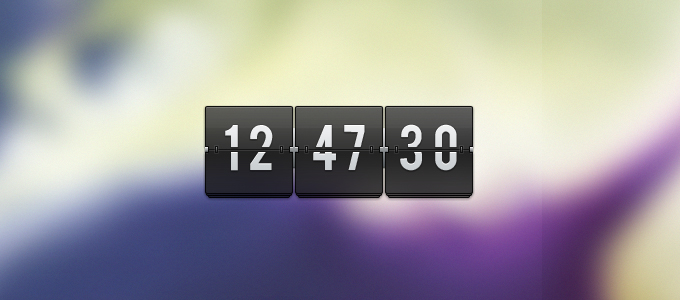 transparent flip clock1 50 Stunning Pixel Perfect PSD Freebies #3