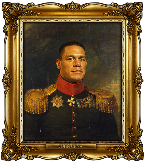 tumblr m1cx67qpef1qi5850o1 1280 Celebrities Digitally Painted As Russian Generals