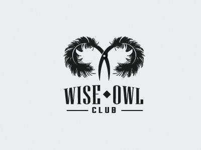 wise owl club1 35 Wisdom Packed Owl Logo Designs
