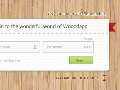 wooodapp signin snap1 50 Stunning Pixel Perfect PSD Freebies #3
