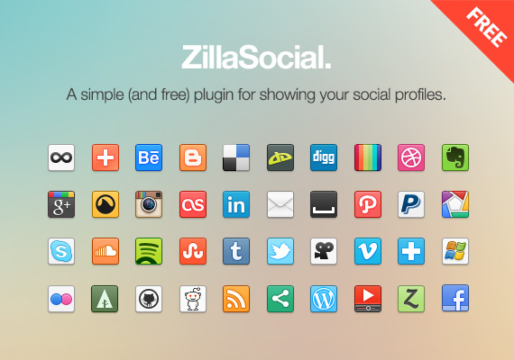 zillasocial feat11 50 Stunning Pixel Perfect PSD Freebies #3