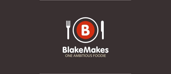 19 blake makes 30 Cool Food Logo Design Ideas
