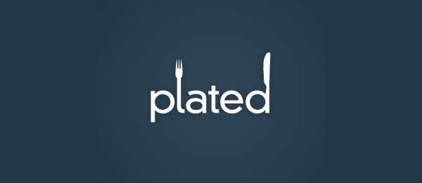 20 plated 30 Cool Food Logo Design Ideas