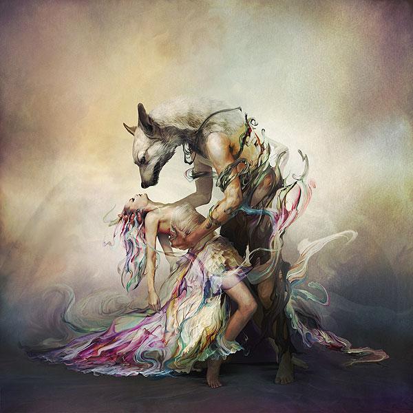 Ryohei Hase, senza titolo, cover art per una nuova canzona della band giapponese L'Arc-en-Ciel, 2011, arte digitale