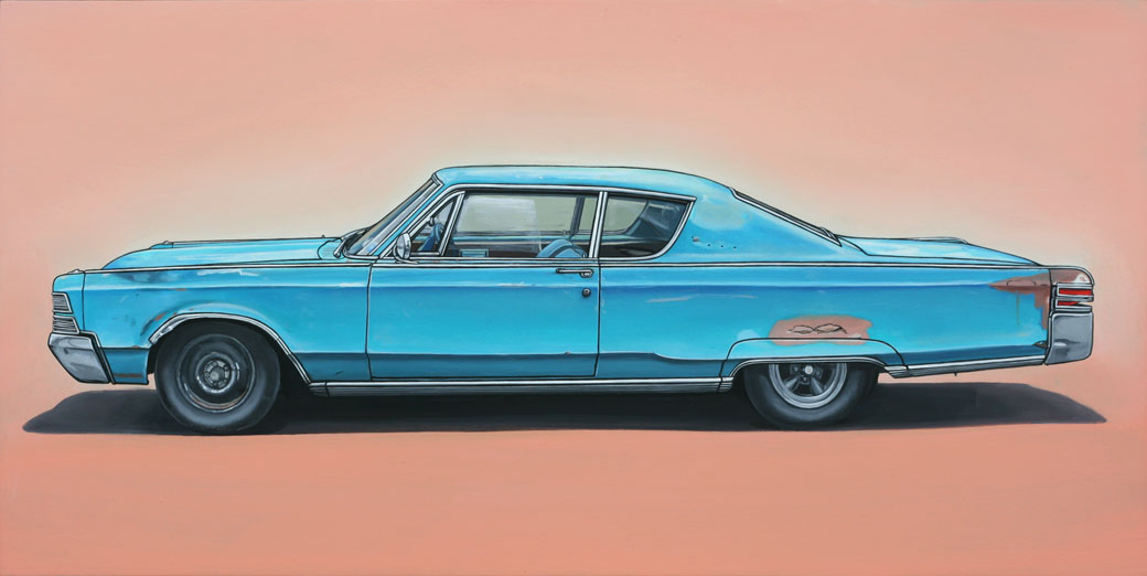 6 anthony Oil Paintings of Retro Vehicles by Kevin Cyr