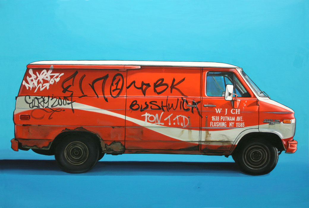 6 bushwick Oil Paintings of Retro Vehicles by Kevin Cyr