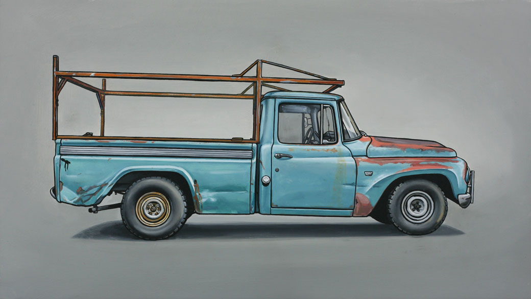 6 devoe Oil Paintings of Retro Vehicles by Kevin Cyr