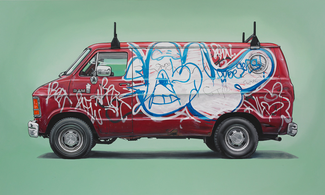 6 laurelhill Oil Paintings of Retro Vehicles by Kevin Cyr
