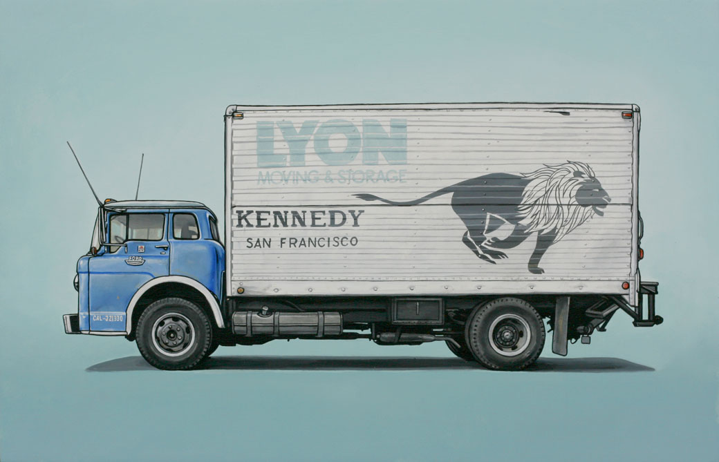 6 mckinnon Oil Paintings of Retro Vehicles by Kevin Cyr