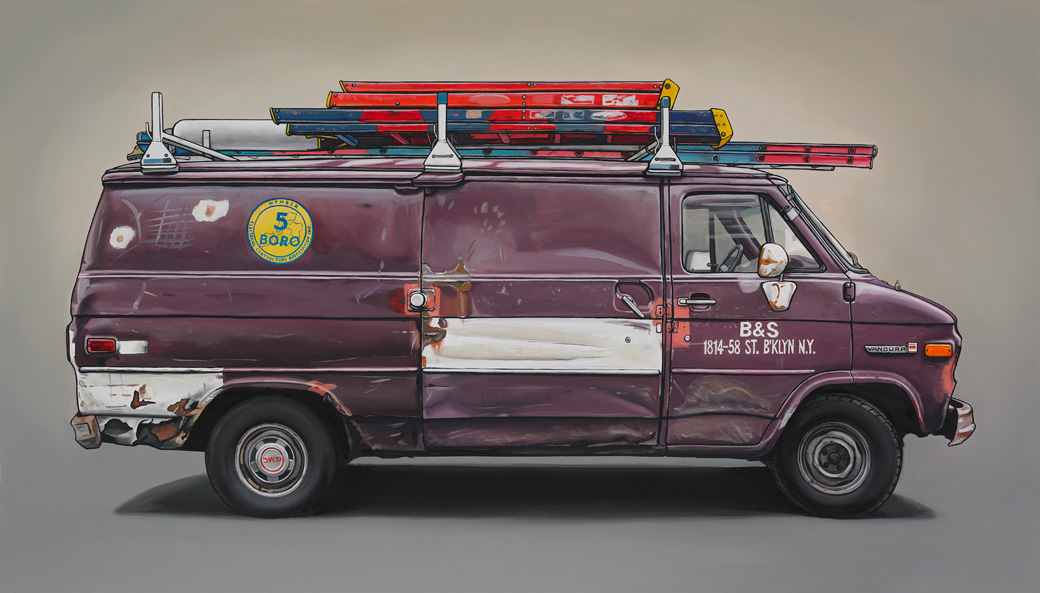 6 newell Oil Paintings of Retro Vehicles by Kevin Cyr