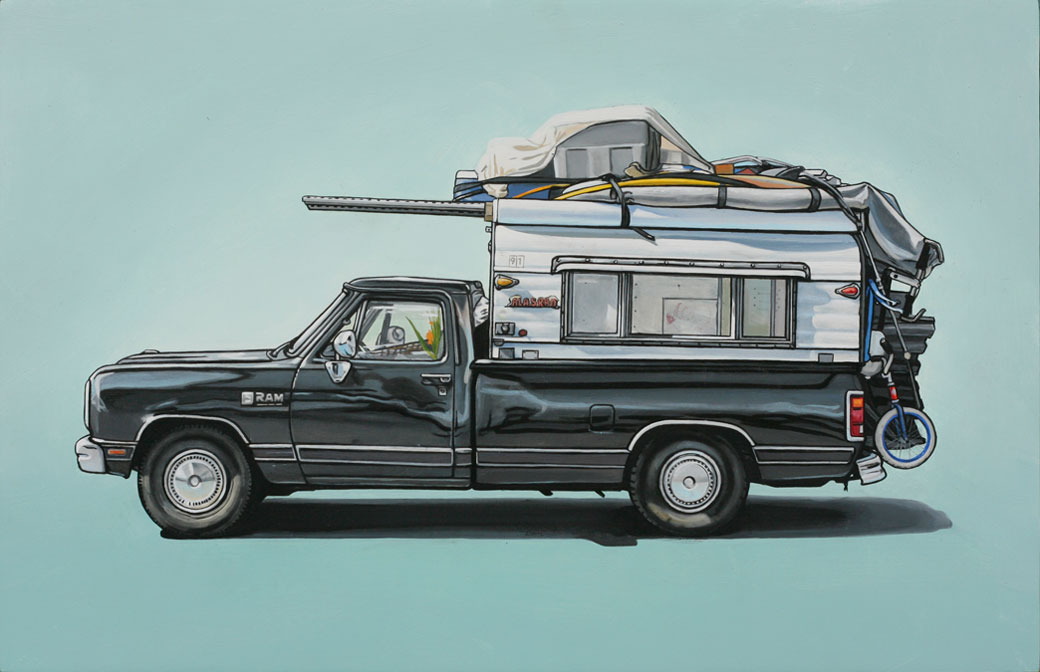 6 princeton Oil Paintings of Retro Vehicles by Kevin Cyr