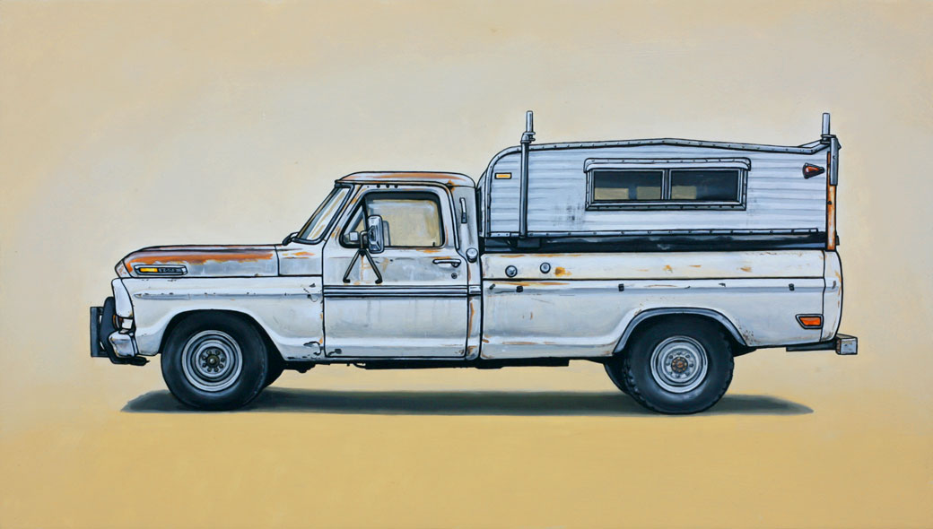 6 revere Oil Paintings of Retro Vehicles by Kevin Cyr