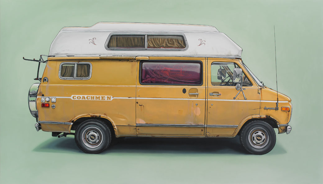 6 stanhope Oil Paintings of Retro Vehicles by Kevin Cyr