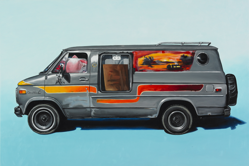 6 stormville Oil Paintings of Retro Vehicles by Kevin Cyr