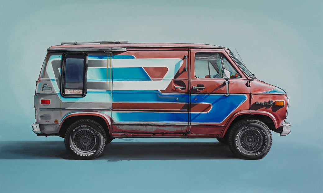 6 wythe Oil Paintings of Retro Vehicles by Kevin Cyr